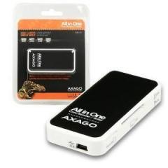 AXAGO CRE-X1, externí mini čtečka paměťových karet, 5-slot ALL-IN-ONE