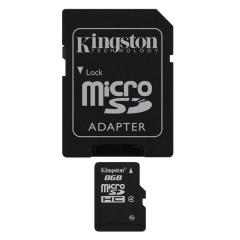 Kingston MicroSDHC 8GB Class4  + adapter